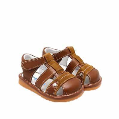 Chaussures semelle souple sandales Camel
