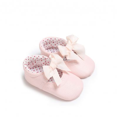 Chaussons Noeud & Pois GIRLY C2BB - chaussons, chaussures, chaussettes pour bébé
