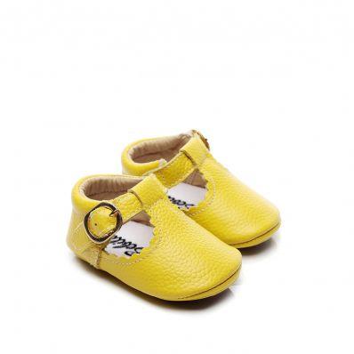 Babies Cuir Premiers Pas Citron