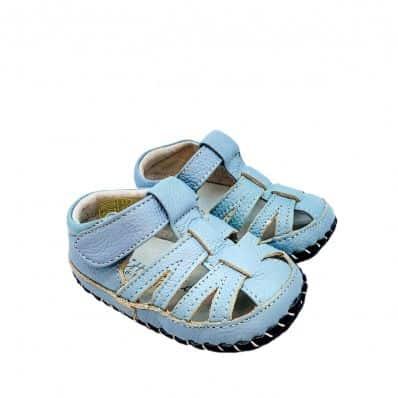 Chaussures premiers pas cuir souple sandales fermées Pur Océan