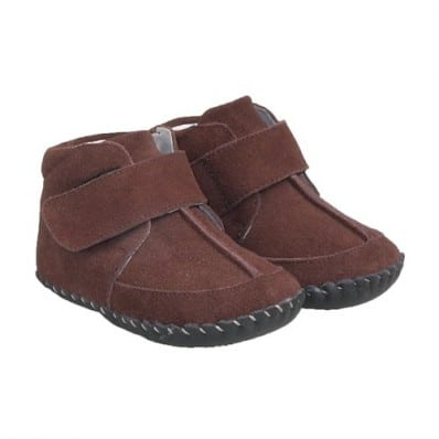 http://cdn2.chausson-de-bebe.com/1024-thickbox_default/little-blue-lamb-baby-boys-first-steps-soft-leather-shoes-black-bootees-brown-heel.jpg
