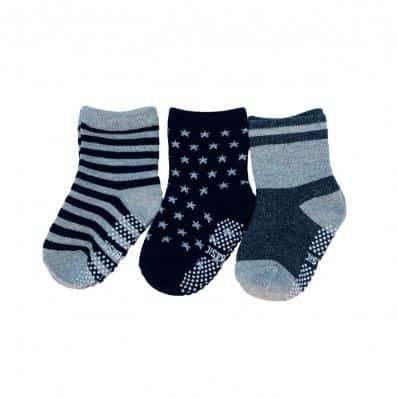 lot de chaussettes antidérapantes FONCÉES C2BB - chaussons, chaussures, chaussettes pour bébé
