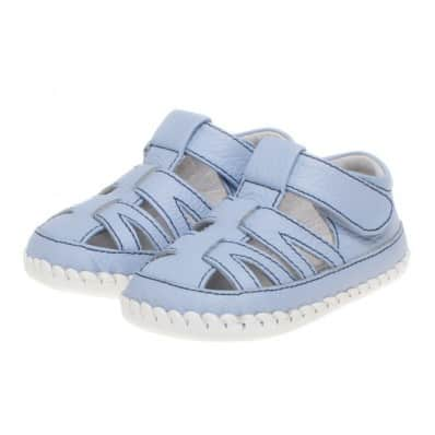 Little Blue Lamb - Chaussures premiers pas cuir souple | Sandales bleues