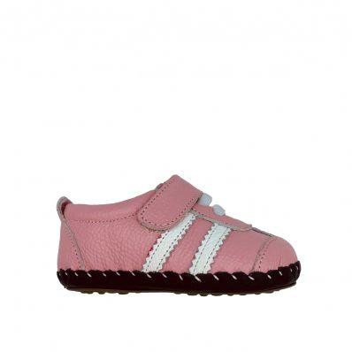 Chaussures premiers pas cuir souple baskets BANDES C2BB - chaussons, chaussures, chaussettes pour bébé