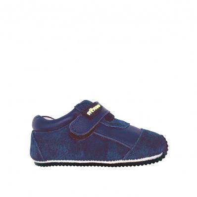 Chaussures premiers pas cuir souple baskets Nubuck Navy Blue C2BB - chaussons, chaussures, chaussettes pour bébé