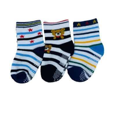 Lot de chaussettes antidérapantes ÉTOILES C2BB - chaussons, chaussures, chaussettes pour bébé