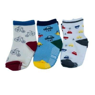 Lot de chaussettes antidérapantes CYCLES C2BB - chaussons, chaussures, chaussettes pour bébé