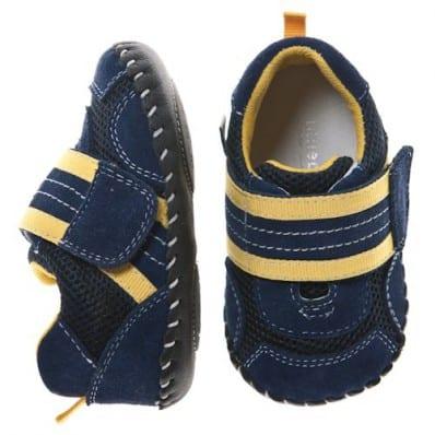 Little Blue Lamb - Scarpine primi passi bimba in morbida pelle | Blu scarpe da ginnastica