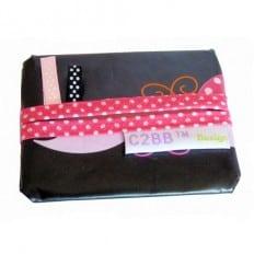Pochette à mouchoirs en papier MADE IN FRANCE | Noire à fleurs