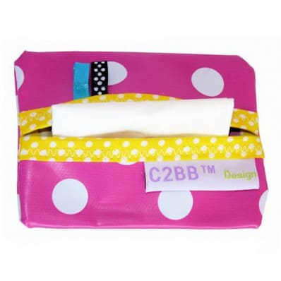 Pocket handkerchiefs MADE IN FRANCE | Pink with white dots