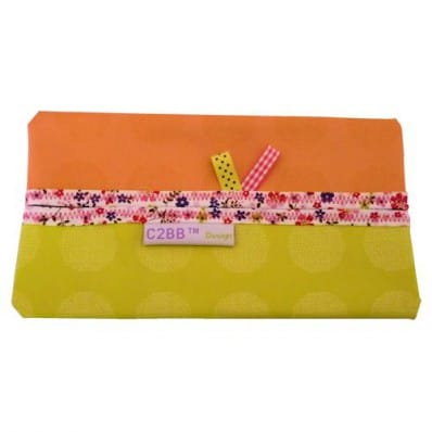 Baby wipes pocket Made in France | Yellow and orange