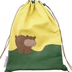 Baby leather school bag | Bear