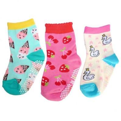 3 paires de chaussettes antidérapantes bébé enfant de 1 à 3 ans | Lot 8