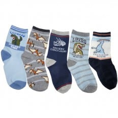 5 paia di calzini antisdrucciolo bambino di 4 a 8 anni | Ragazzo B