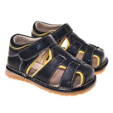 Little Blue Lamb - Chaussures à sifflet | Sandales noires