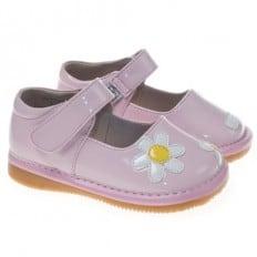 Little Blue Lamb - Scarpine bimba primi passi con fischietto   Fiore bianco cerimonia colore rosa