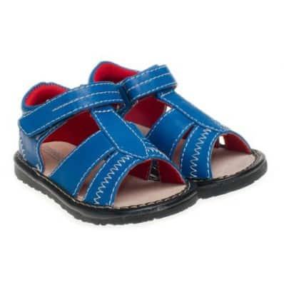 Little Blue Lamb - Zapatos de cuero chirriantes - squeaky shoes niños | Sandalias azules
