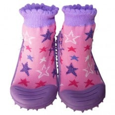 Baby girls Socks shoes with grippy rubber | Stars