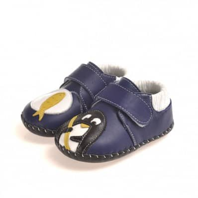 CAROCH - Zapatos de bebe primeros pasos de cuero niños | Pequeño pingüino