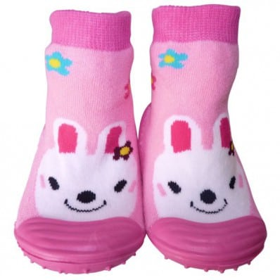 Chaussons-chaussettes enfant antidérapants semelle souple | Gentil lapin