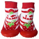 Baby girls Socks shoes with grippy rubber | Big cherry