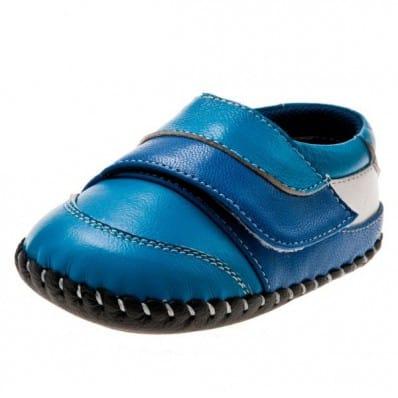 Little Blue Lamb - Chaussures premiers pas cuir souple | Baskets bleu