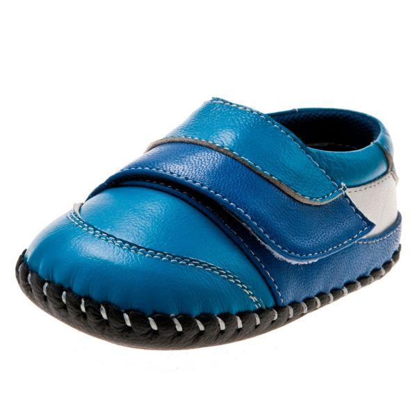 Little Blue Lamb - Zapatos de bebe primeros pasos de cuero niños 8pceakXIUw