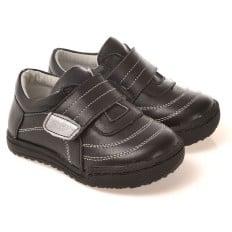 CAROCH - Krabbelschuhe Babyschuhe  Leder - Jungen | Schwarze sneakers