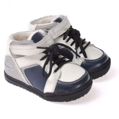 CAROCH - Scarpine suola morbida - ragazzo | Stivali bianco e blu