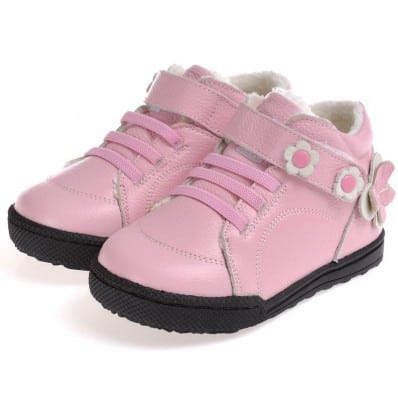 CAROCH - Soft sole girls kids baby shoes | Pink filled booties