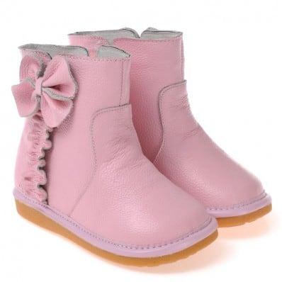 CAROCH - Zapatos de cuero chirriantes - squeaky shoes niñas   Botas forados de color rosa