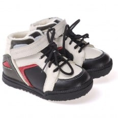 CAROCH - Zapatos de suela de goma blanda niños   Zapatillas de deporte forradas azul y blanco