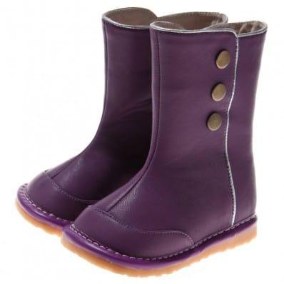 Little Blue Lamb - Chaussures à sifflet | Bottes hiver violettes