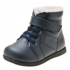 Little Blue Lamb - Chaussures semelle souple | Bottines bleu marine
