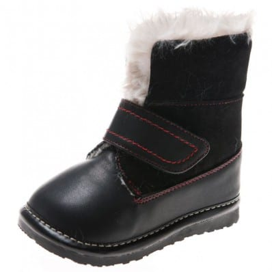 Little Blue Lamb - Zapatos de cuero chirriantes - squeaky shoes niños | Botas negras