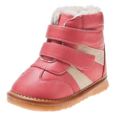 Little Blue Lamb - Chaussures à sifflet | Bottines rose et blanc