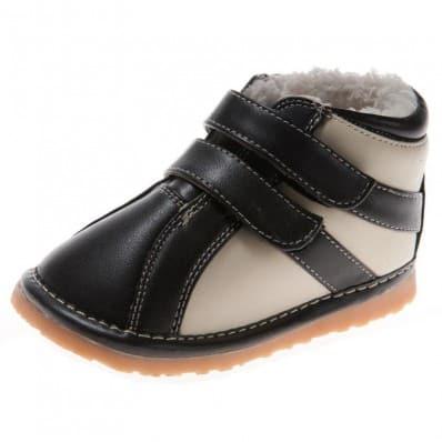 Little Blue Lamb - Scarpine bimba primi passi con fischietto   Sneakers nero e bianco