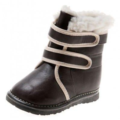 Little Blue Lamb - Chaussures à sifflet | Bottines noires et blanche