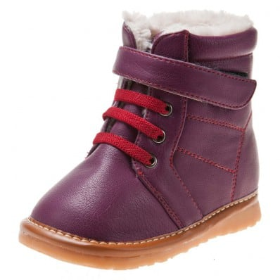 Little Blue Lamb - Chaussures à sifflet | Bottines violettes