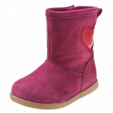 Little Blue Lamb - Chaussures semelle souple | Bottes velours rose violet