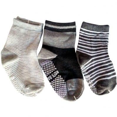 3 paires de chaussettes antidérapantes bébé enfant de 1 à 3 ans | Lot 20