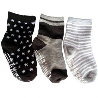 3 paires de chaussettes antidérapantes bébé enfant de 1 à 3 ans | Lot 22