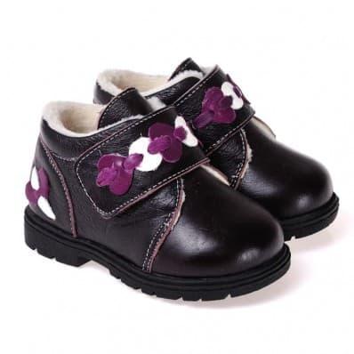 CAROCH - Zapatos de suela de goma blanda niñas   Montantes forradas negra
