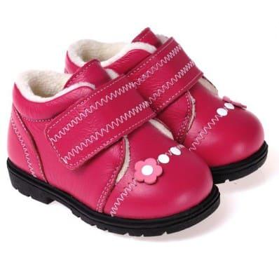 CAROCH - Scarpine suola morbida - ragazza   Sneakers fushia con fiore rosa