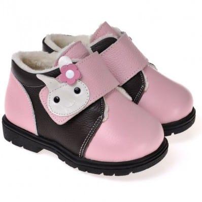 CAROCH - Chaussures semelle souple ultra résistante | Montantes fourrées rose lapin