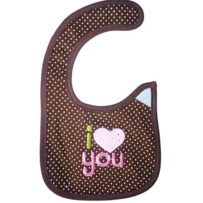 Baby girl Embroidered bibs | I love you
