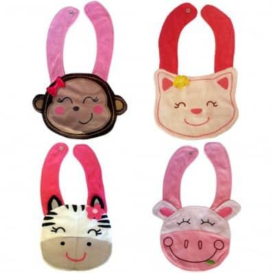 4 Baby girl bibs   Pack 2