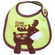 Baby boy Embroidered bibs | Deer