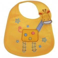 Lätzchen Baby Jüngen gestickte Baumwolle | Giraffe