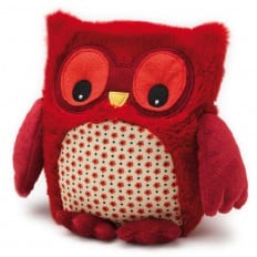 INTELEX - HOOTY Peluche microonde calore tenero peluche | Gufo rosso